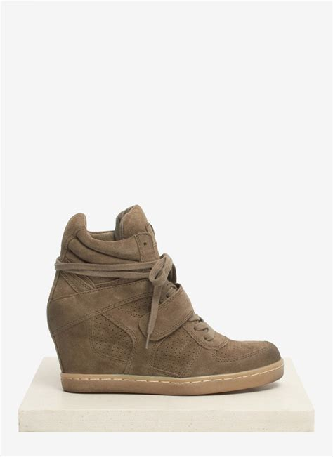 ash cool wedge sneakers ash cool suede wedge sneakers in brown neutral and brown
