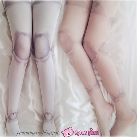jointed doll tights white skin harajuku puppet joint doll tights