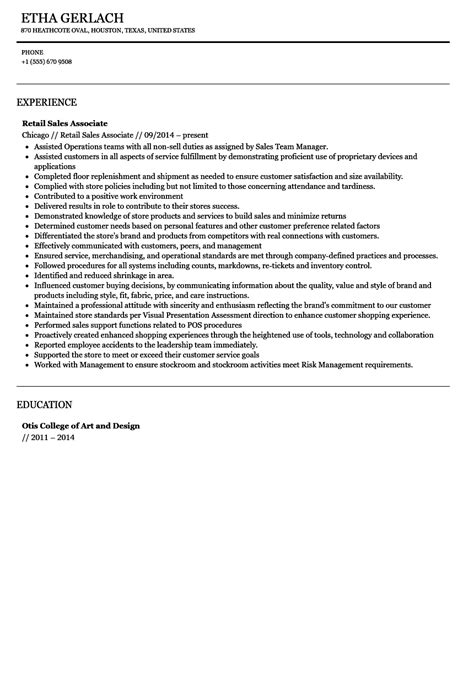 collection of solutions sample resume of sales associate with