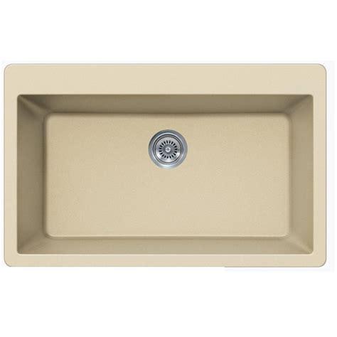 Quartz Composite Kitchen Sinks Beige Quartz Composite Single Bowl Undermount Drop In Kitchen Sink 33 X 21 X 9 Inch