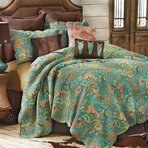 Bed Sheets And Quilts Western Bedding Prairie Flower Quilt Bedding Collection