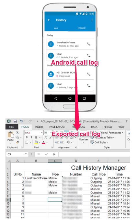 android timer exle how to export android call log to excel