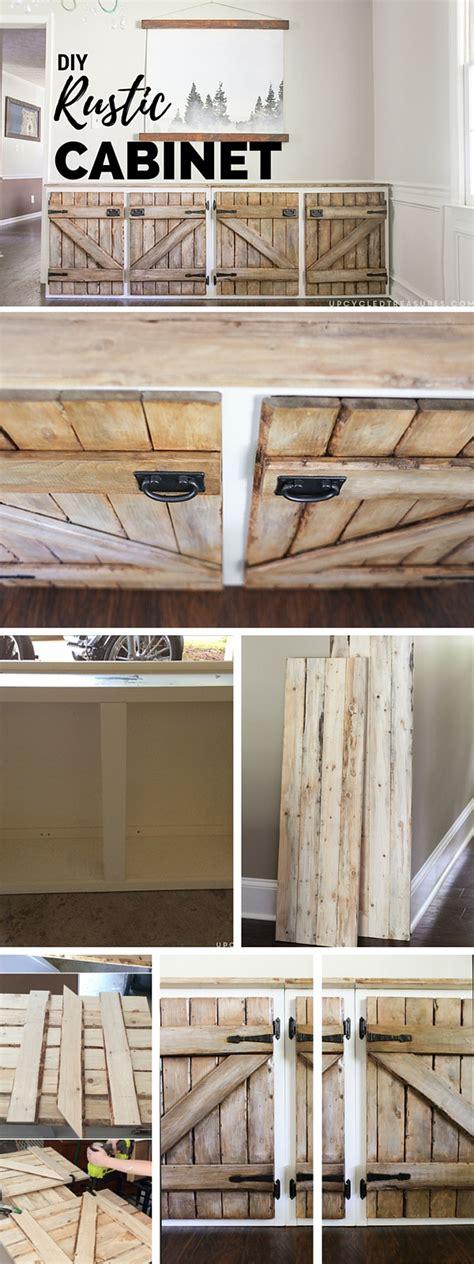 Diy Rustic Kitchen Cabinets Diy Rustic Cabinet