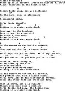 Bob dylan song lyrics with chords winter wonderland