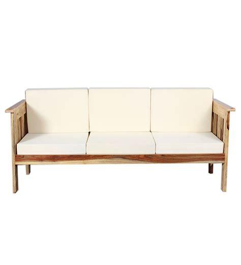 sheesham sofa alexander sheesham wood three seater sofa by mudramark