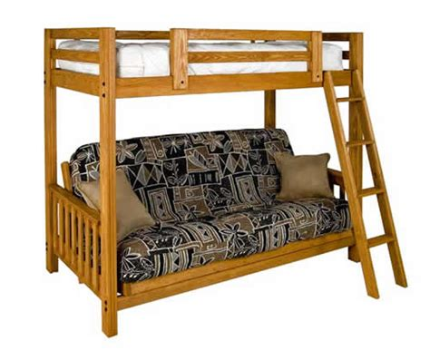 Freedom Bunk Bed Freedom Futon Bunk Solid Pine Bed By Collegiate Furnishings