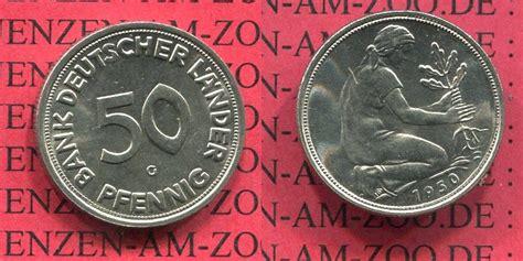 50 pfennig bank deutscher länder 1950 g 50 pfennig 1950 g bundesrepublik deutschland frg germany