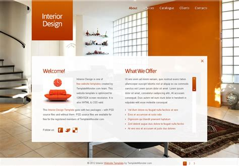25 Beautiful Free Interior Design Website Html Templates Interior Website Templates