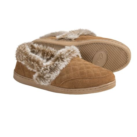 slippers for womens clarks quilted suede slippers for 3701d save 71