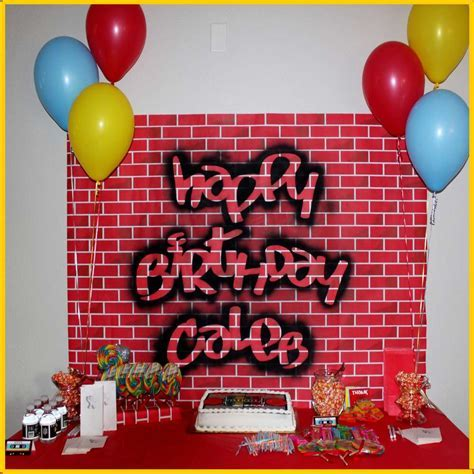 Old School Hip Hop Birthday Party Ideas   Photo 2 of 15   Catch My Party