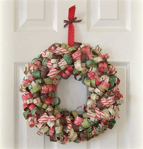 diy wreath paper wreath ideas xmasblor