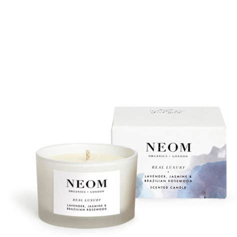 neom comforting candle neom organics real luxury travel scented candle free