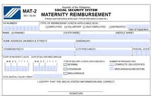 Sss Maternity Notification Form Mat 2 sss maternity benefit application requirements computation sss answers