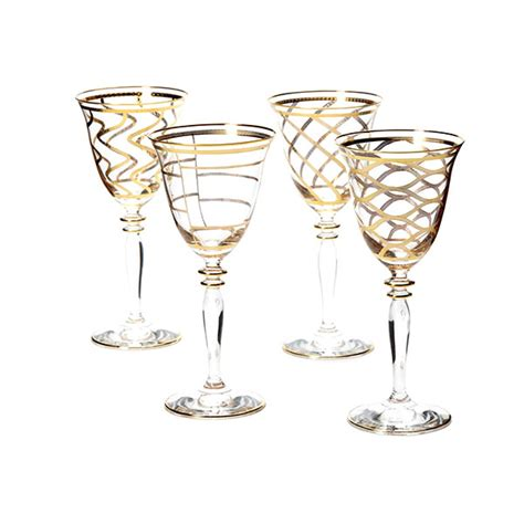 elegant barware elegant wine glasses set jan de luz linens