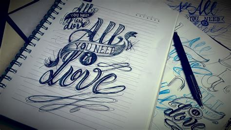 all you need is love tattoo design quot all you need is quot design on behance