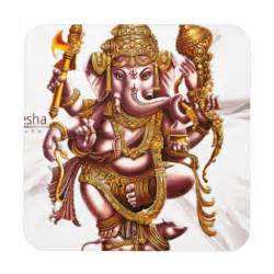 Decorate Mugs Lord Ganesh Good Luck Charm Coaster