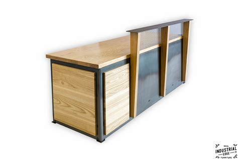 steel reception desk ash steel reception desk real industrial edge