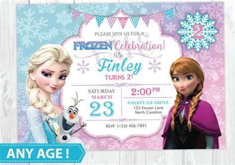 frozen invitation card free template 11 frozen invitation template free sle exle