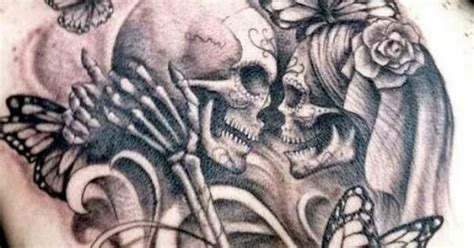 skull kissing tattoo sugar skull search pretty