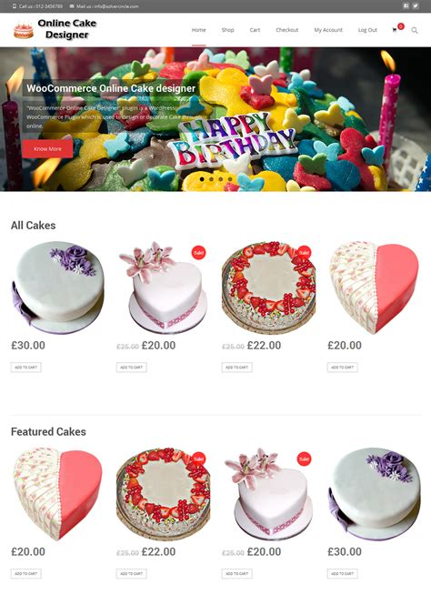 design online cake online cake and cupcake design for woocommerce by