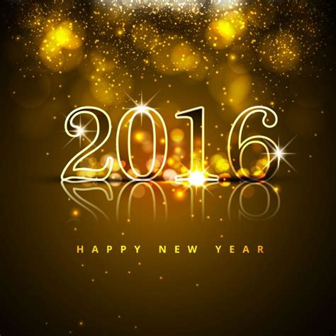 new year 2016 in new year 2016 glitters background vector free