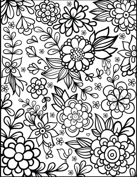 coloring pages printables flowers for adults best 25 flower coloring pages ideas on flower