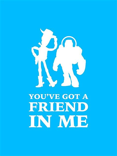 Buzz Lightyear Wall Stickers quot toy story woody and buzz lightyear you ve got a friend in