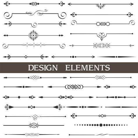 page design elements vector most downloaded content on graphicstock graphic