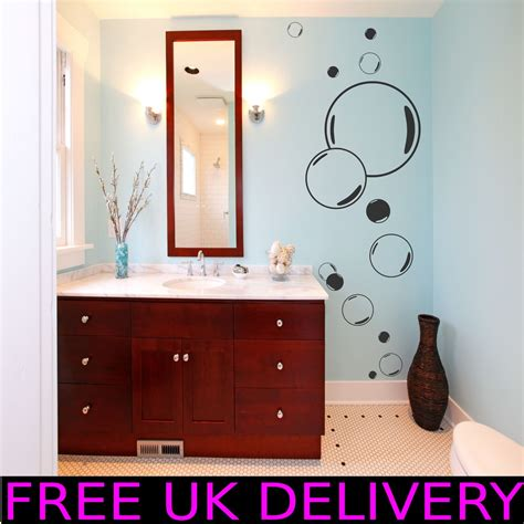 Large Bathroom Wall Decals Large Big Bubbles Bathroom Wall Stickers Decal Vinyl