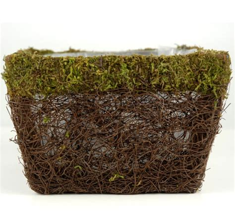 Moss Planters by Wicker And Moss Planter 7 5in