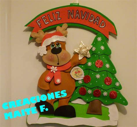 imagenes navidras en goma eva fofuchas manualidades y creaciones maite cartel navidad
