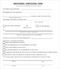 employment verification form 12 free word pdf