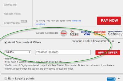 bookmyshow free coupons bookmyshow rs 100 winpin 15 cashback