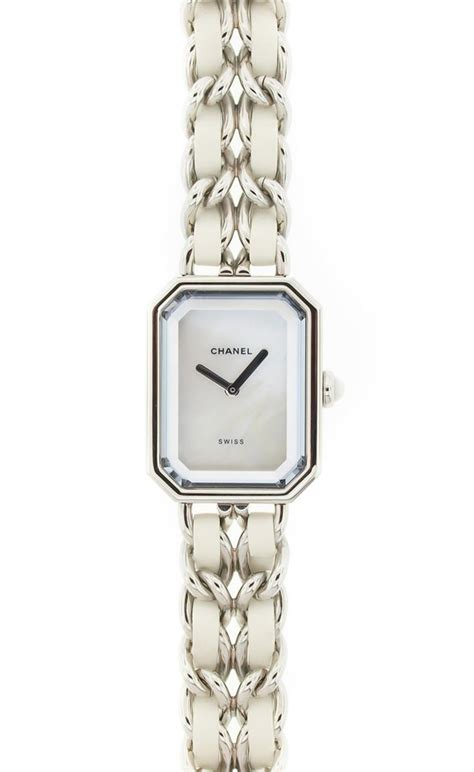 Chanel Sabit Silver White chanel white and silver vaunte all that glitters chanel watches and