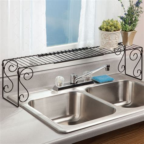 expandable the sink shelf kitchen shelves