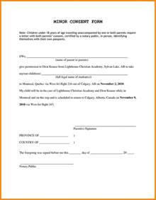 Parents Consent Letter For 10 Parental Consent Form For Travel Resumed