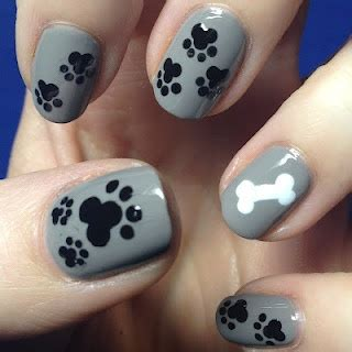 paw print nails  beauty thesis