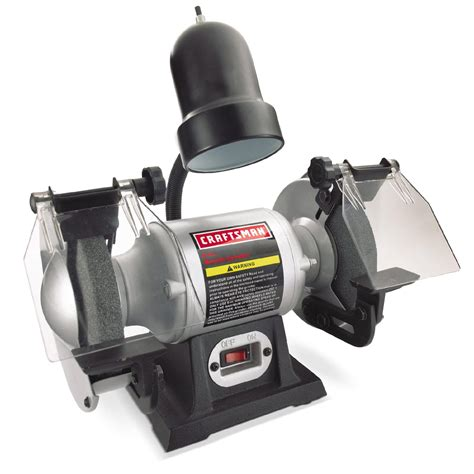 craftsman 1 6 hp 6 quot bench grinder with l 21124