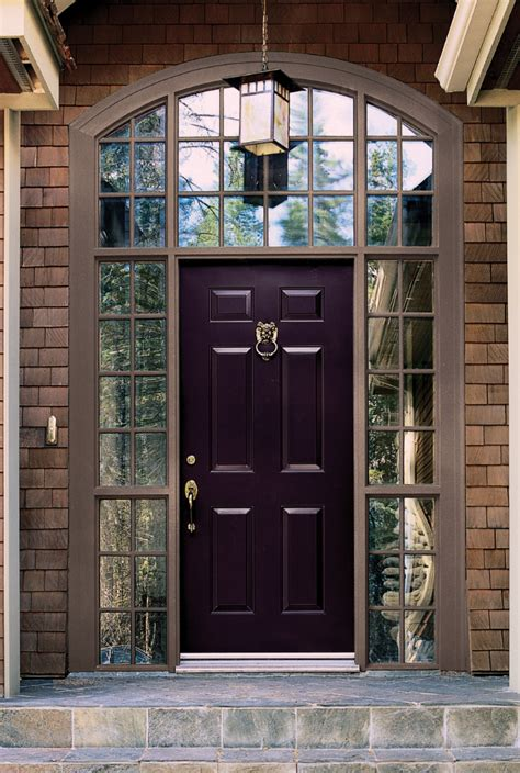 Front Door Colors For Brick House Color Trend 2014 Radiant Orchid 15 Beautiful Exterior Doors The Six Fix