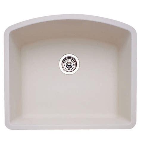 blanco biscuit sink blanco undermount granite 24 in single bowl