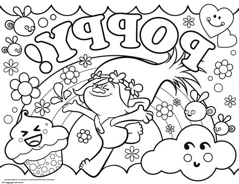 printable free pictures troll coloring pages to print fun coloring pages