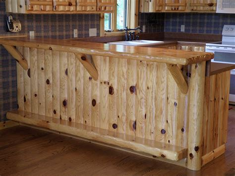 knotty pine kitchen log home accessories woodhaven log lumber