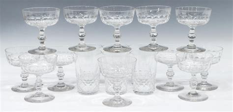 baccarat crystal barware 18 baccarat crystal champagne barware group august