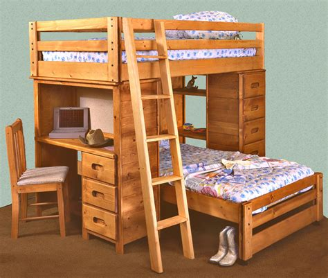 twin bunk with desk trendwood bunkhouse twin twin bronco loft bed with built