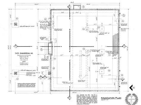 foundation layout exles sle plans the plan shoppe