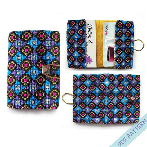 pattern holder cross stitch cross stitch business card holder credit card case