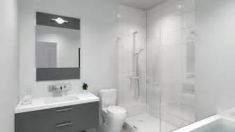 Salle de bain moderne avec baignoire et douche petite salle de bains