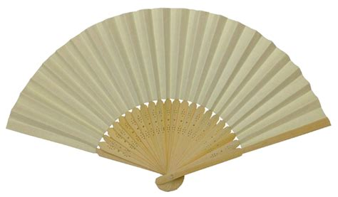 Folding Paper Fan - folding paper fan 8 25 quot ivory