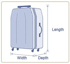 cabin baggage measurements baggage dimensions baggage length x baggage depth x
