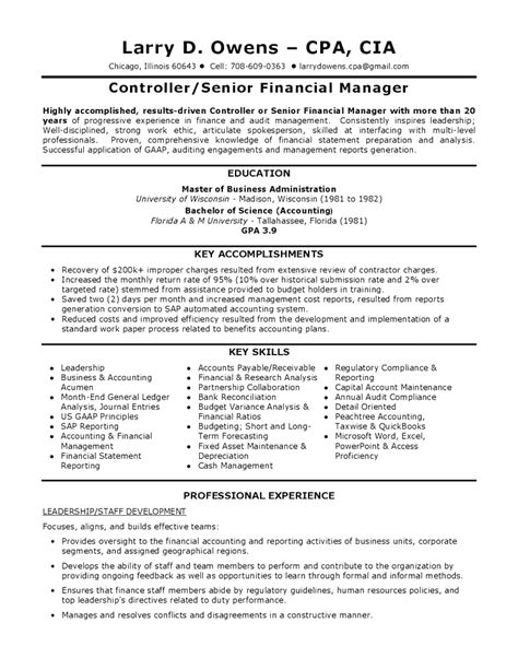 resume templates for finance professionals top finance controller resume template sle finance